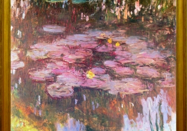 Tablou Peisaj cu flori de nufar, tablou floralTablou natura moarta, tablou natura statica, Claude Monet Nymphèas, Lac de flori