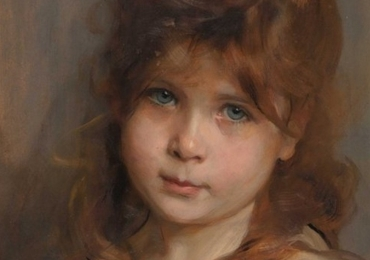 Tablou Portret la comanda pictat manual in ulei pe panza. Portrete cu copii.