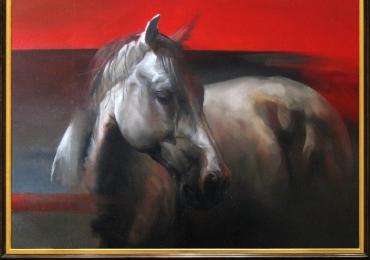 Tablou abstract cu cal, tablou cu animale salbatice, tablouri cu animale pictate