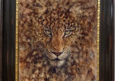 Tablou abstract modern cu tigru, tablou dimensiune mare, tablou cu animale salbatice