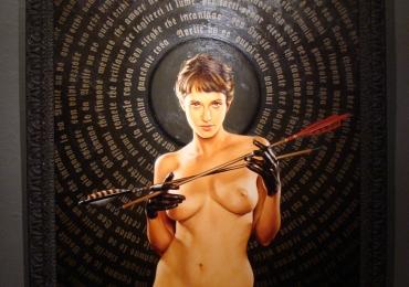 Tablou abstract, tablou modern Portret de femeie tanara, portrete cu femei, portrete la comanda,Idei de cadouri pentru femei, portrete la comanda, Tablou pictat manual