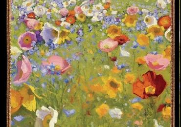 Tablou camp cu maci Tablou cu tema abstracta, tablou inmpresionist, tablou sufragerie, tablou dimensiune mare, tablou cu flori de camp