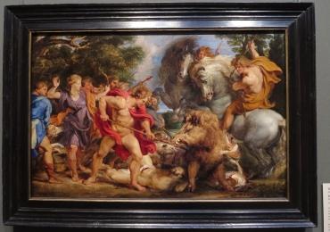 Tablou celebru cu scene de vanatoare, Rubens, tablou cu animale salbatice, tablouri c