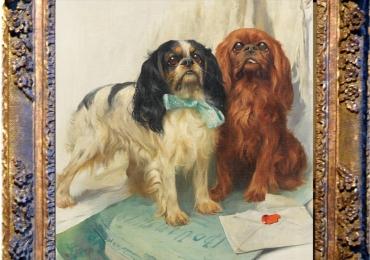 Tablou cu Pechinezi imperiali, tablou cu animale salbatice, tablouri cu animale pictat