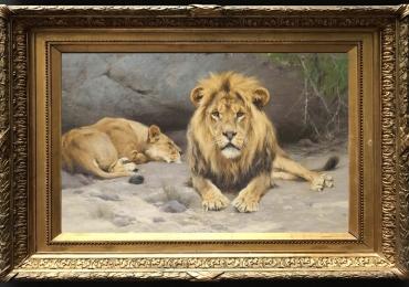 Tablou cu animale salbatice, tablou cu animale exotice, tablou cu familie de lei tablo