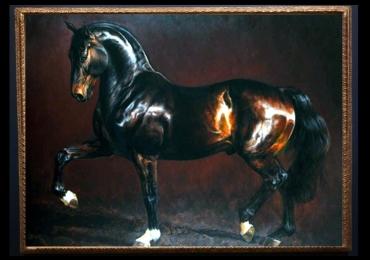 Tablou cu  animalul nobililor, Tablou cu cal arab, tablou cu animale salbatice