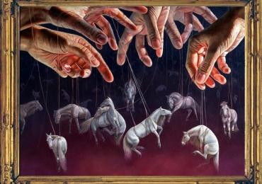 Tablou cu cai, Tablou abstract, tablou cu animale salbatice, tablouri cu animale pictat