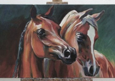 Tablou cu cai frumosi,  tablou cu animale salbatice, tablouri cu animale pictate, tablo