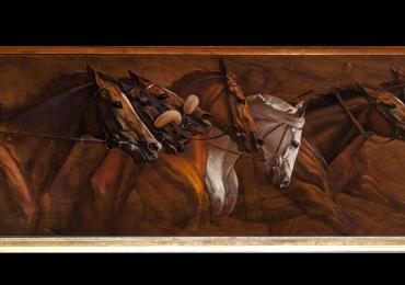 Tablou cu cai puri de rasa, tablou cu animale salbatice, tablouri cu animale pictate, ta