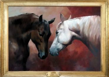 Tablou cu cai tablou abstract, tablou cu animale salbatice, tablouri cu animale pictate