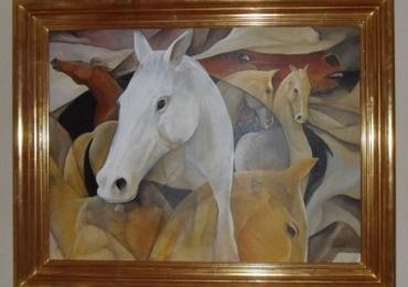 Tablou cu cai, tablou abstract, tablou modern, tablou cu animale salbatice, tablouri cu