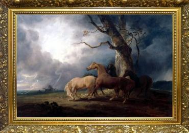 Tablou cu cai, tablou cu animale salbatice, tablouri cu animale pictate, tablouri cu ani