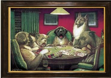 Tablou cu caini la masa de pocker, tablou cu animale salbatice, tablouri cu animale pi
