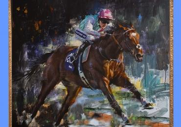 Tablou cu cal alergand la concurs, tablou abstract  tablou cu animale salbatice, tablou