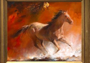 Tablou cu cal,  tablou cu animale salbatice, tablouri cu animale pictate, tablouri cu an