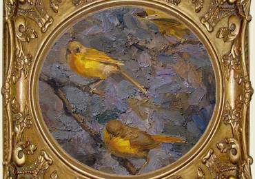 Tablou cu canari, tablou cu animale salbatice, tablouri cu animale pictate, tablouri cu
