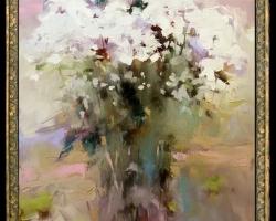 Tablou cu flori, Tablou cu tema abstracta, tablou inmpresionist, tablou cadou de 1 martie, tablou martisor tablou 8 martie