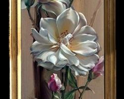 Tablou cu flori, Tablou modern, Tablou cu tema abstracta, tablou inmpresionist, tablou sufragerie, tablou dimensiune mare, tablou decorativ