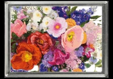 Tablou cu flori de camp colorate, Tablou cu tema abstracta, tablou inmpresionist, tablou sufragerie, tablou dimensiune mare, tablou cu flori salbatice