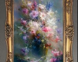 Tablou cu flori de munte, tablou cu flori de camp, tablou cu buchet de flori, Tablou floral, aranjamente  florale pentru ocazii deosebite