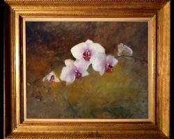 Tablou cu flori de orhidee, Tablou cu tema abstracta, tablou sufragerie, tablou dimensiune mare, tablou floral