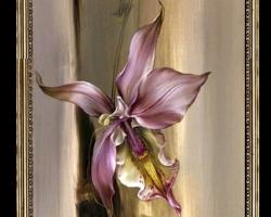 Tablou cu flori mov,Tablou modern, Tablou cu tema abstracta, tablou inmpresionist, tablou sufragerie, tablou dimensiune mare