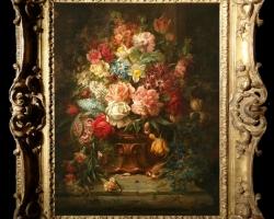 Tablou cu flori pictura flamanda, tablou cu buchet de flori si pitigoi, tablou cu pasari, Tablou floral, aranjamente  florale pentru ocazii deosebite