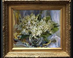 Tablou cu flori, tablou cu buchet de lacramioare, tablouri cu aranjamente florale, picturi florale
