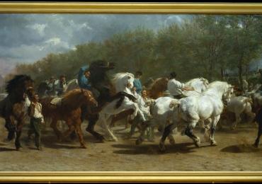 Tablou cu herghelie cai, tablou cu animale salbatice, tablouri cu animale pictate, tabl