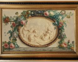 Tablou cu ingerasi inconjurati de flori Anne Vallayer Coster, Winter Tablou cu flori, tablouri cu natura moarta