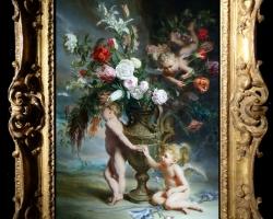Tablou cu ingerasi, tablou natura statica, idei de cadouri pentru ocazii deosebite, Tablou pictat natura moarta