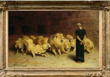 Tablou cu lei, Daniel in the Lions Den, Peter Paul Rubens tablou cu animale salbatice