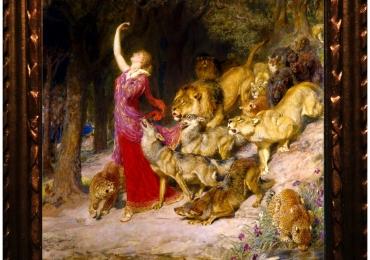 Tablou cu lei in padure, tablou cu femeie, tablou celebru Aphrodite, pictat de Briton
