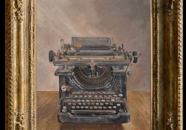 Tablou cu masina de scris vintage, Tablou cu tema abstracta, tablou masina de scris antica, tablou sufragerie, tablou dimensiune mare, tablou natura moarta
