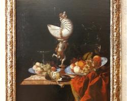 Tablou cu natura moarta Hinz Still life with a nautilus cup
