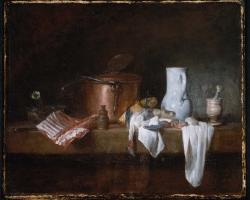 Tablou cu natura moarta Jean Siméon Chardin, The Kitchen Table