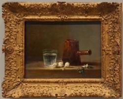 Tablou cu natura moarta Jean siméon chardin, bicchier d'acqua e caffettiera, 1761