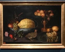 Tablou cu natura moarta Peter Binoit Still life with Quail 1630