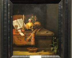 Tablou cu natura moarta cu craniu Sauerland Vanitas still life