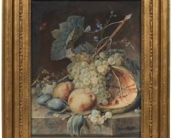 Tablou cu natura moarta cu fructe de toamna, Still Life with Fruit