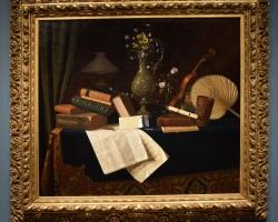 Tablou cu natura moarta, tablou cu carti pictat de William Harnett