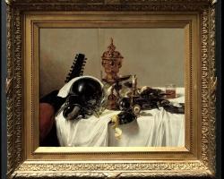 Tablou cu natura moarta, tablou cu obiecte de artizanat