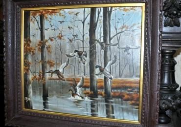 Tablou cu pasari in Delta, tablou cu animale salbatice, tablouri cu animale pictate, Ce