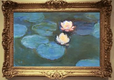 Tablou cu peisaj de vara, tablou lac cu nuferi, peisaj din natura, Claude Monet Nympheas