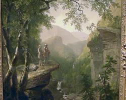 Tablou cu peisaj montan, tablou cu peisaj de vara, Thomas Cole William Cullen Bryant pictured in the Catskill Mountains.