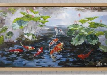 Tablou cu pesti coi, tablou cu animale salbatice, tablouri cu animale pictate, tablouri