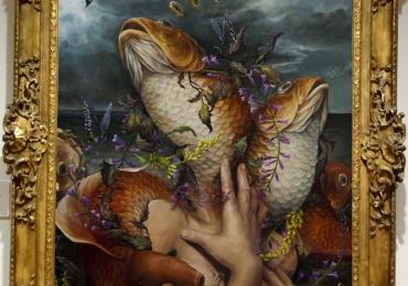 Tablou cu  pesti, tablou abstract, tablou cu animale salbatice, tablouri cu animale pict