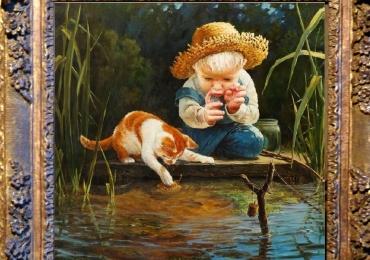 Tablou cu  pisici, tablou cu animale salbatice, tablouri cu animale pictate, tablouri cu