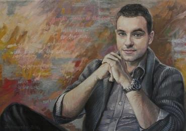Tablou cu portretul iubitului, portrete rame tablouri la comanda bucuresti, portrete la comanda, Tablouri pictate