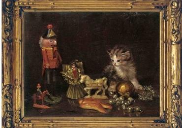 Tablou cu pui de pisica, tablou natura moarta, tablou cu animale salbatice, tablouri cu